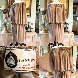 Lanvin Paris Couture dress size 10 off Shoulder